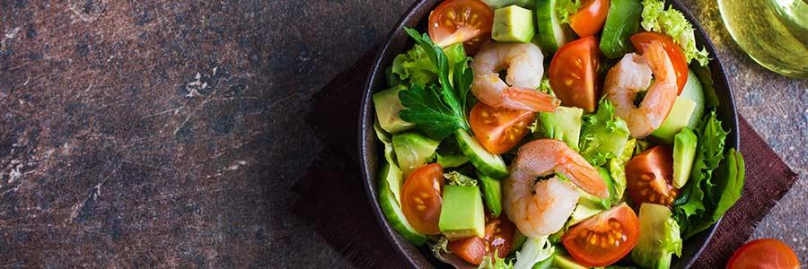 sałatka krewetki z awokado shrimp with avocado salad