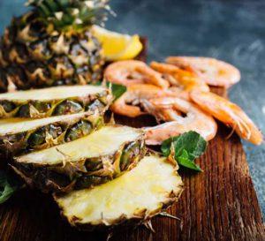 przepis na krewetki z ananasem recipe for shrimp with pineapple