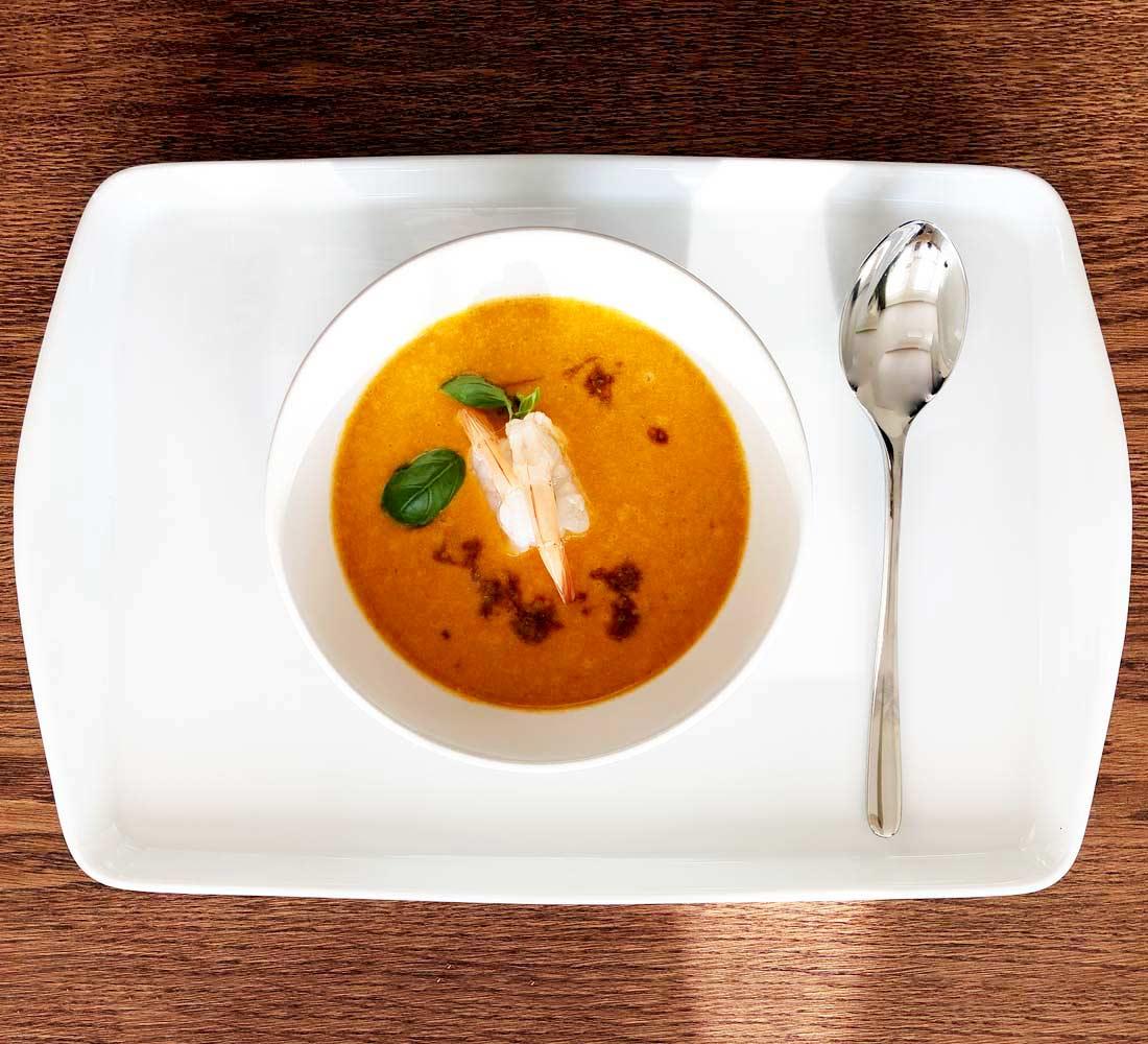 pikantna zupa krewetkowa thai spicy shrimp soup
