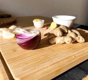przepisy cebula imbir kalmary owoce morza papryczka chilli recipe onion ginger squid seafood chilli pepper